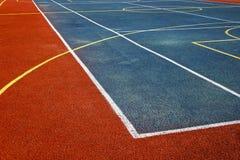Campo de deportes sintetizado 2 imagen de archivo