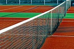 Campo de deportes sintetizado para el tenis 11 imagen de archivo libre de regalías