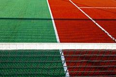 Campo de deportes sintetizado para el tenis 9 fotos de archivo