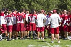 Campo de entrenamiento de los cardenales del NFL Arizona Fotos de archivo
