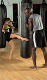 Campo de entrenamiento de MMA Imagen de archivo libre de regalías