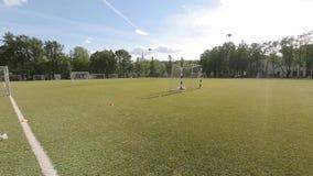Campo de entrenamiento del fútbol metrajes