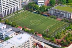 Campo de entrenamiento del fútbol Fotografía de archivo