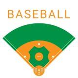 Campo de esporte do basebol ilustração royalty free