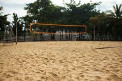 Campo de esportes do voleibol de praia Fotografia de Stock