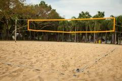 Campo de esportes do voleibol de praia Foto de Stock Royalty Free