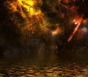Campo de estrela com nebulosa. Foto de Stock