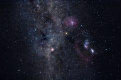 Campo de estrella de la vía láctea Imagen de archivo libre de regalías