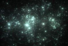 Campo de estrella de neón en espacio Fotografía de archivo