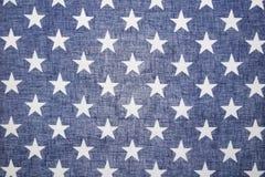 Campo de estrella del Lit de la parte posterior de la bandera de los E.E.U.U. Fotografía de archivo