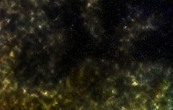 Campo de estrella en espacio profundo muchos años luz lejos de la tierra stock de ilustración