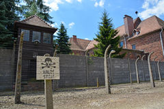 Campo de exterminação de Auschwitz imagem de stock