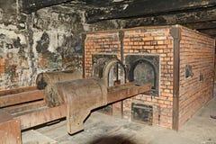 Campo de exterminação de Auschwitz fotos de stock