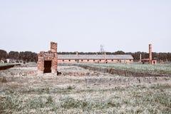 Campo de exterminação de Auschwitz imagens de stock