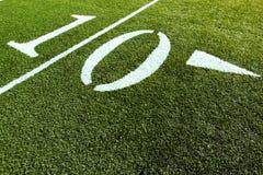 Campo de fútbol 10 yardas Imágenes de archivo libres de regalías