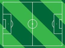 Campo de fútbol alineado Imagen de archivo