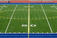 Campo de fútbol americano foto de archivo libre de regalías