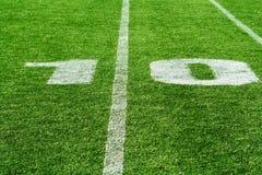 Campo de fútbol americano Imagen de archivo libre de regalías