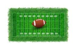Campo de fútbol americano con la hierba real texturizada, libre illustration
