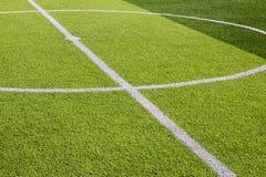 Campo de fútbol artificial de la hierba Imagen de archivo libre de regalías