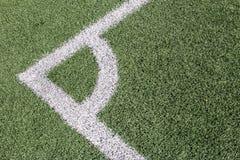 Campo de fútbol artificial de la hierba Imágenes de archivo libres de regalías