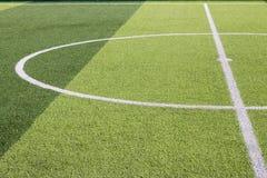 Campo de fútbol artificial de la hierba Foto de archivo libre de regalías
