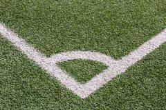 Campo de fútbol artificial de la hierba fotografía de archivo libre de regalías