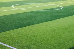 Campo de fútbol artificial de la hierba en Chiang Mai, Tailandia foto de archivo libre de regalías