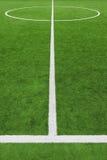 Campo de fútbol, centro y línea lateral Fotografía de archivo