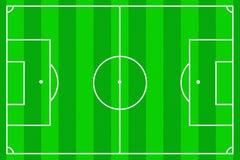 Campo de fútbol como fondo stock de ilustración