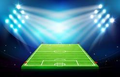 Campo de fútbol con el estadio 002 Imagen de archivo libre de regalías