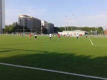 Campo de fútbol de la cerámica de Delft del TU Fotografía de archivo libre de regalías