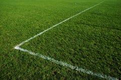 Campo de fútbol de la hierba Foto de archivo libre de regalías
