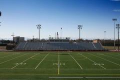 Campo de fútbol de la High School secundaria Foto de archivo