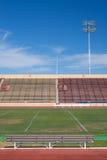 Campo de fútbol de la universidad Imagenes de archivo