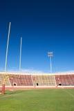 Campo de fútbol de la universidad Imágenes de archivo libres de regalías