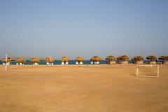 Campo de fútbol de Sandy Fotografía de archivo