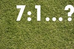 Campo de fútbol del césped (campo de fútbol, hierba verde) Imágenes de archivo libres de regalías