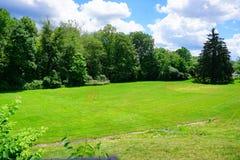 Campo de fútbol del campus de la universidad del Mt Holyoke fotografía de archivo