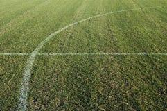 Campo de fútbol del fútbol Imágenes de archivo libres de regalías
