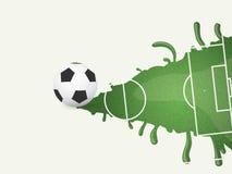 Campo de fútbol en la pintura Fondo del vector Fotografía de archivo libre de regalías