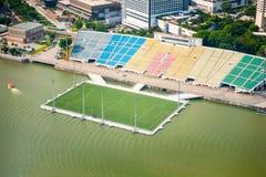 campo de fútbol en Marina Bay Sands Singapore fotografía de archivo libre de regalías