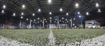 Campo de fútbol interior de Tailandia fotografía de archivo libre de regalías