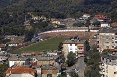 Campo de fútbol, Kruja, Albania Fotografía de archivo libre de regalías