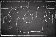 campo de fútbol negro gris del tablero Fotos de archivo