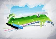 Campo de fútbol pintado Imagen de archivo libre de regalías