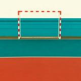 Campo de fútbol, puertas del fútbol Estilo mínimo fotografía de archivo libre de regalías