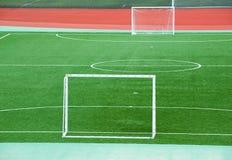 Campo de fútbol vacío Imagen de archivo libre de regalías