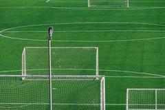 Campo de fútbol verde foto de archivo