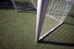 Campo de fútbol y meta Fotografía de archivo